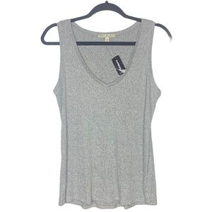 EXPRESS ONE ELEVEN Gray Ribbed V-Neck Tank M NWT
